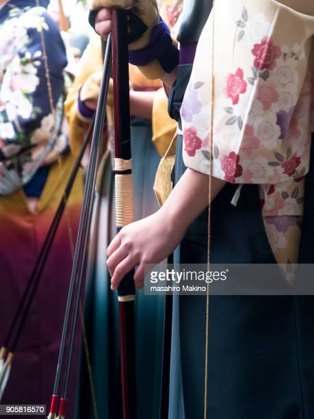 Female Archers in Kimono