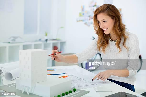 Female Architect At Work.