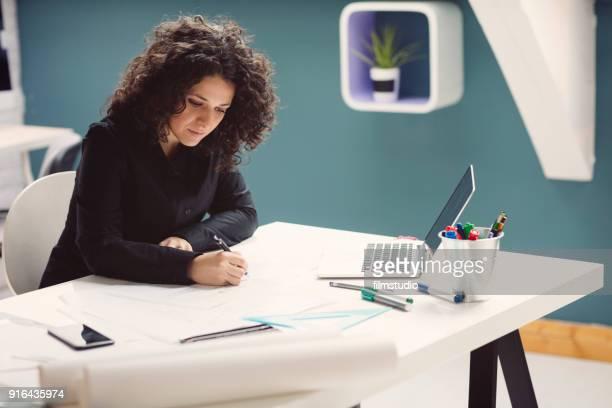 Female Architect At Work