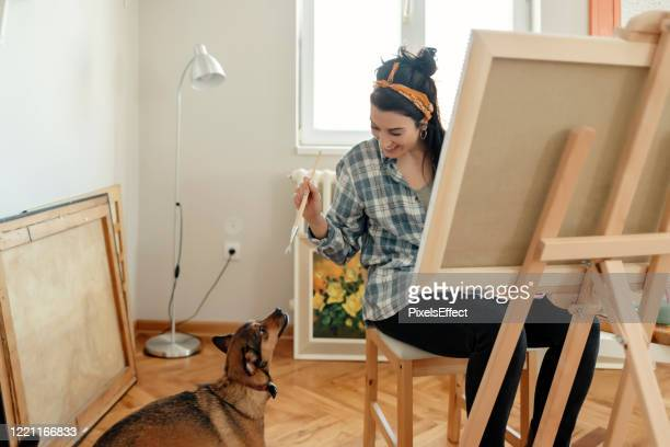 female artist - sexy drawing stock pictures, royalty-free photos & images