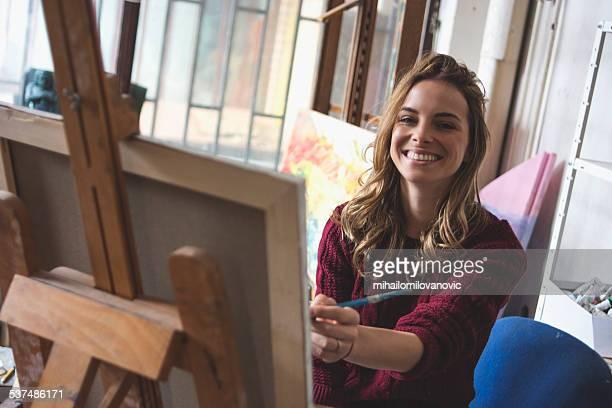 Femme artiste