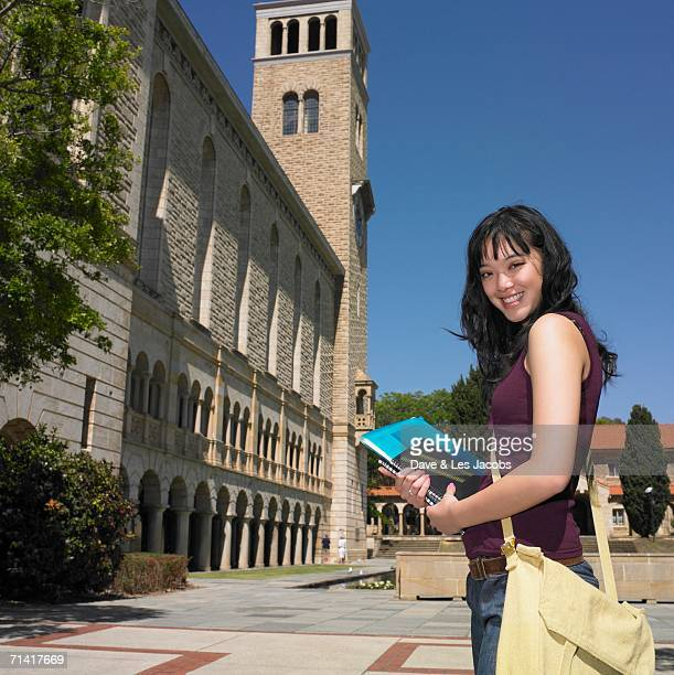 Female Asian university student on campus
