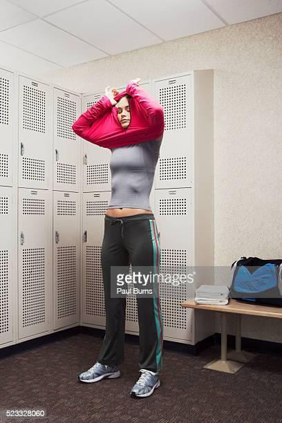 girls undressing in dressing room