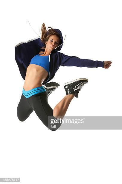 Femme Athlète de saut