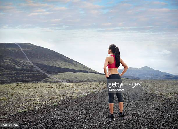 Female athlete looking into the distance