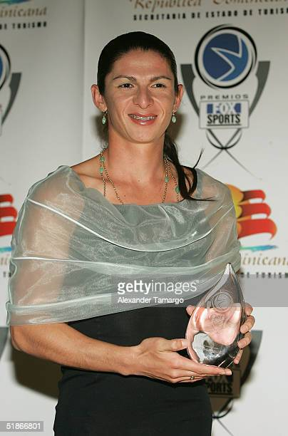 Female athlete of the year Ana Gabriela Guevara poses backstage at the 2nd Annual Premios FOX Sports Awards December 15 2004 at the Jackie Gleason...