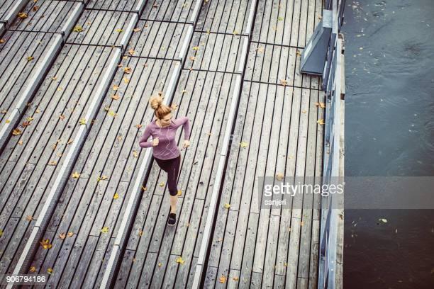 Female Athlete Running Outdoors