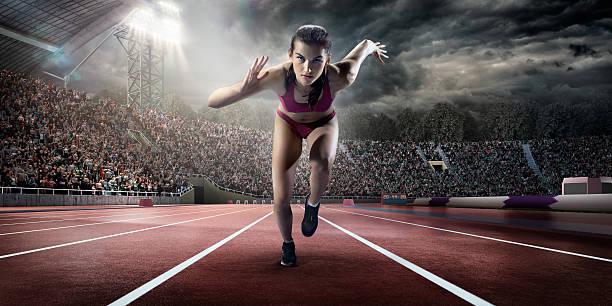 Female Athlete Sprinting Wall Art