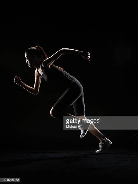Female athlete who begins to run