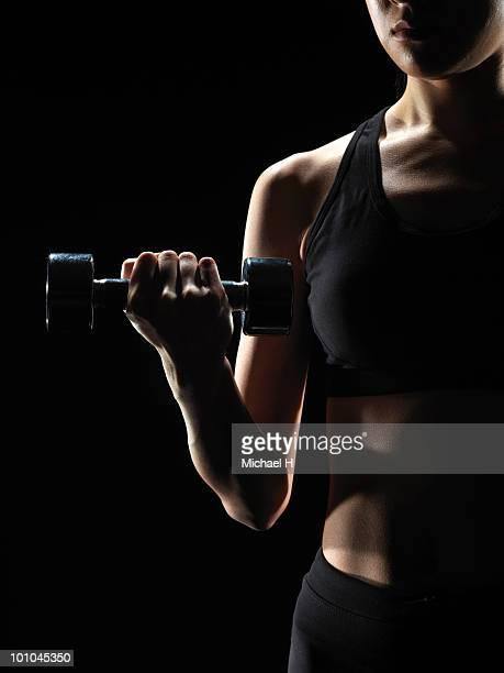 Female athlete who does weight training