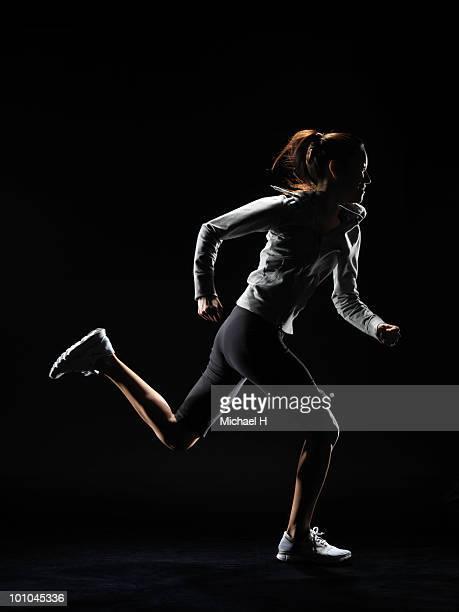 Female athlete who runs one's best