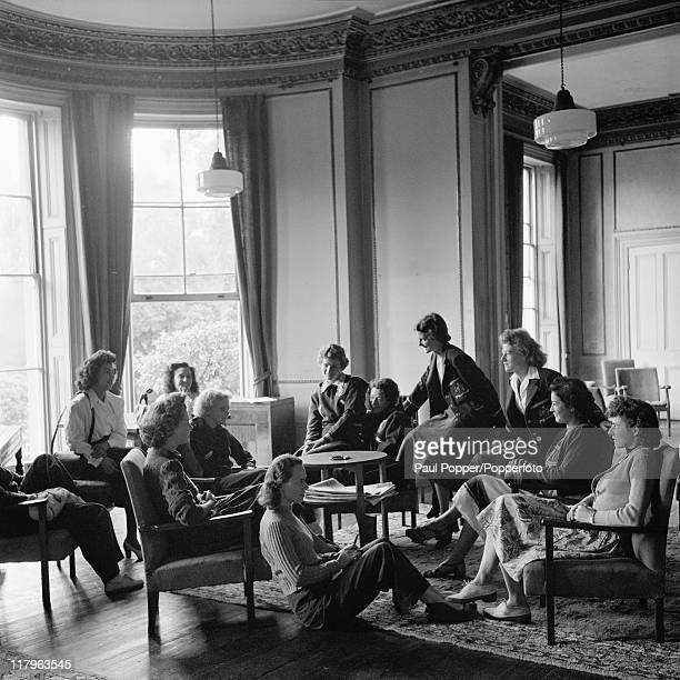 Female athletes from Australia and Mexico at their accomodation at Southland College, Wimbledon, during the London Olympics, July 1948.