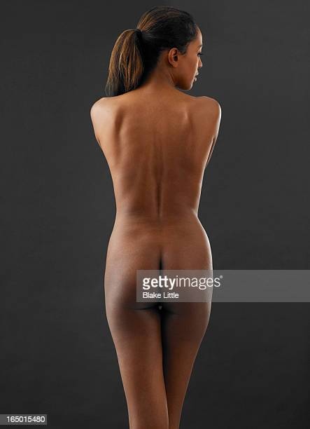 female back nude torso with profile - bare bottom stock pictures, royalty-free photos & images