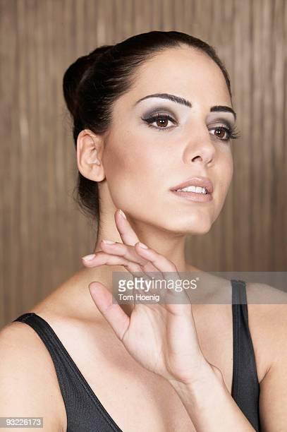 Female ballet dancer, close-up
