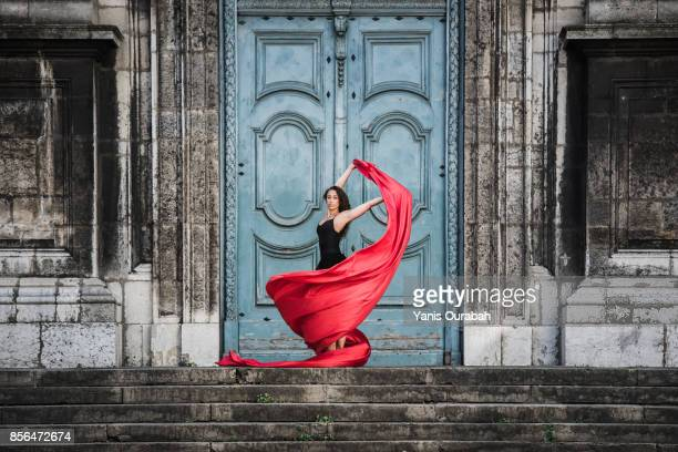 female ballet dancer dancing in lyon, france - oper stock-fotos und bilder