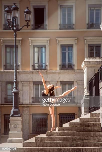Female ballet dancer dancing in Lyon, France