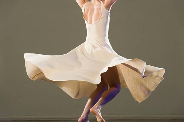 Female ballet dancer dancing