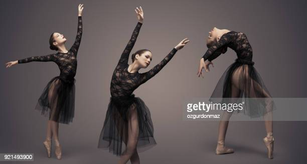 female ballet dancer - leg show stock pictures, royalty-free photos & images