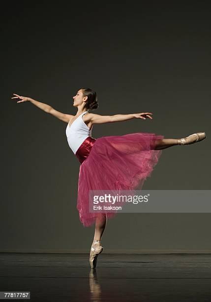 Female ballet dancer posing