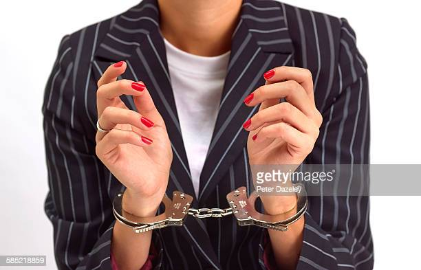 female banker politician lawyer - arrest stock pictures, royalty-free photos & images
