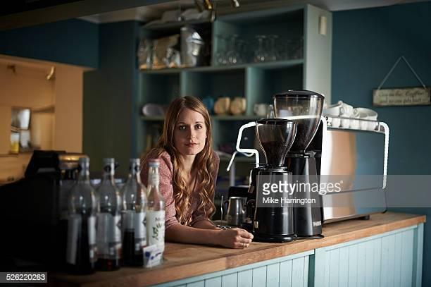 Female barista in cafe