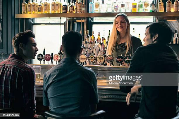 Female barmaid