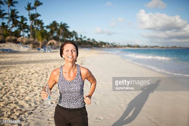 Female Beach Runner