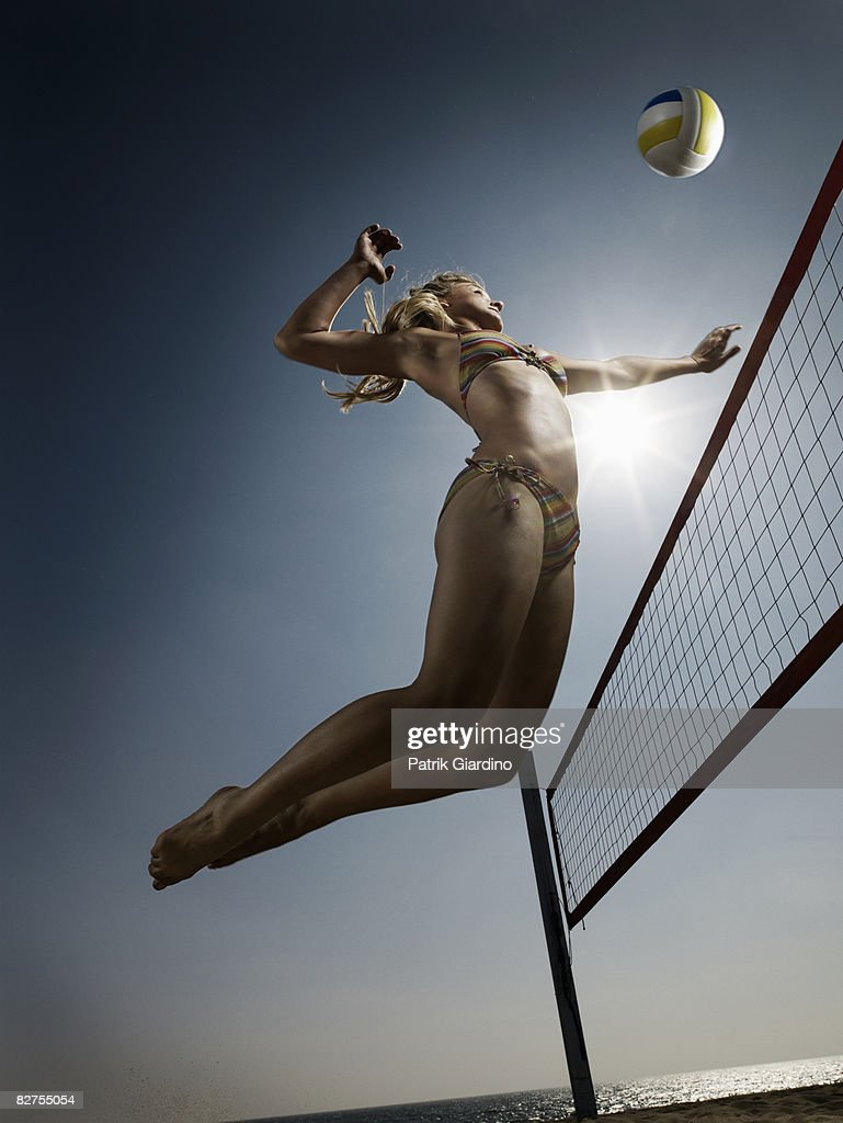 Female Beach Volleyball : Stock-Foto