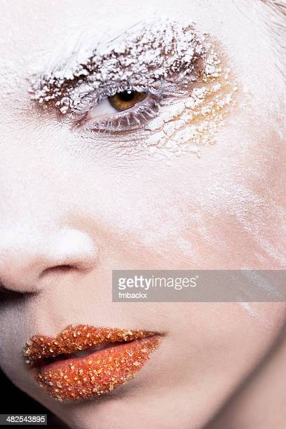 Female Beauty Close-up Powder Sugar Make-up Creative