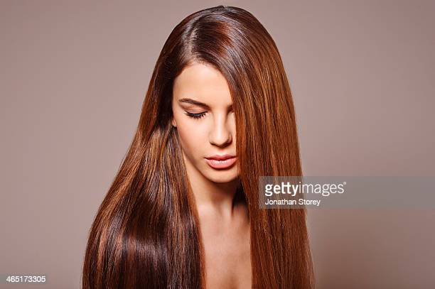female beauty - long hair stock pictures, royalty-free photos & images