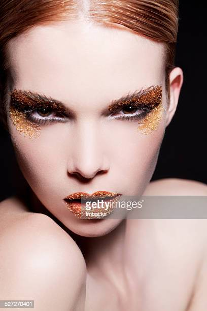 Female Beauty Portrait Brown Sugar Make-up Creative