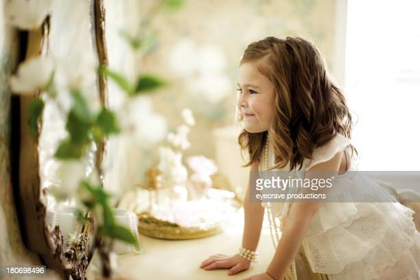 female beauty vintage happiness little girl