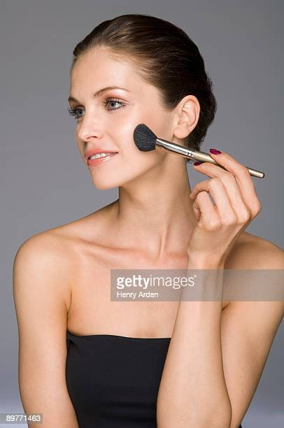 female beauty with blusher make up