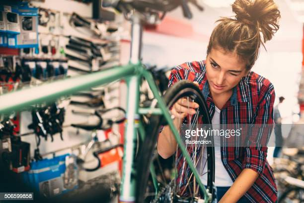 Female Bicycle Mechanic