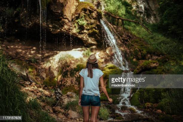 female biologist doing research - montenegro stock pictures, royalty-free photos & images