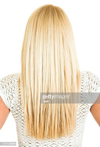 female blonde long hair - straight hair stock pictures, royalty-free photos & images