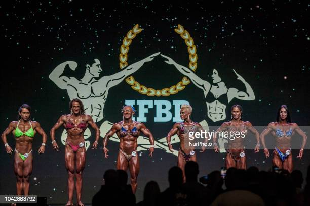 Female bodybuilding athletes posing during the quotArnold Classic Europequot 2018 multisport competition in Barcelona On 28 September 2018 in...