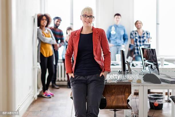 Female Boss Of New Business Team