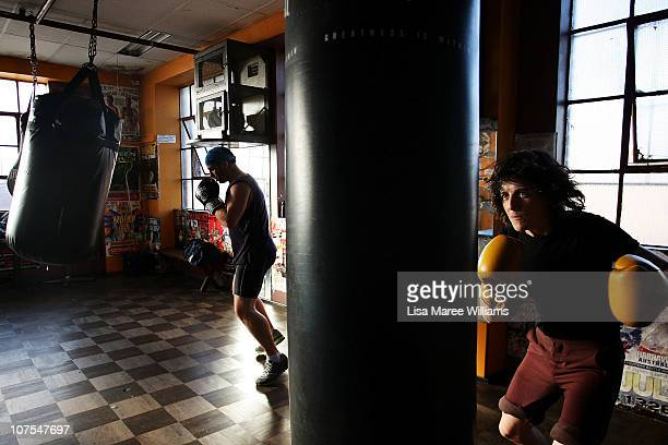 """Female boxer Emma Carroll during training at the Elouera Tony Mundine Gym on Vine Street in the Aboriginal housing community known as """"The Block"""" in..."""