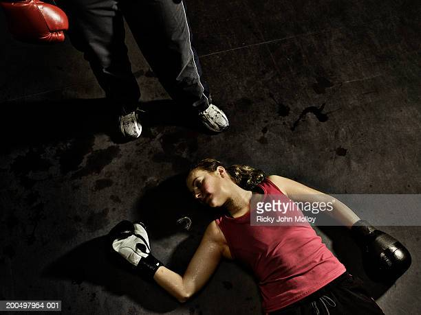 Female boxer knocked out