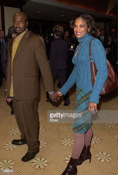 Female boxer Laila Ali with her husband Johnny McClain arrive at Roast This An Evening With Muhammad Ali and Friends celebrity roast November 16 2000...