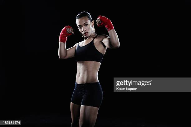 female boxer - boxing shorts stock pictures, royalty-free photos & images