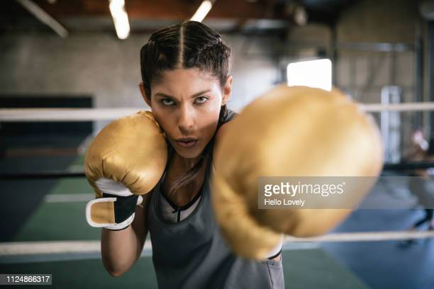 female boxer sparring - dedication stock pictures, royalty-free photos & images