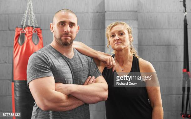 Female boxer with her personal trainer