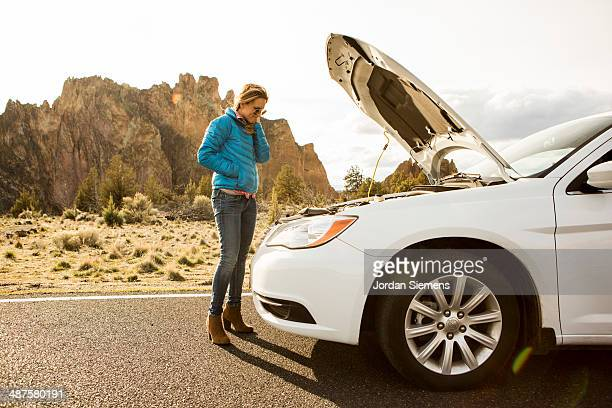 A female broke down.