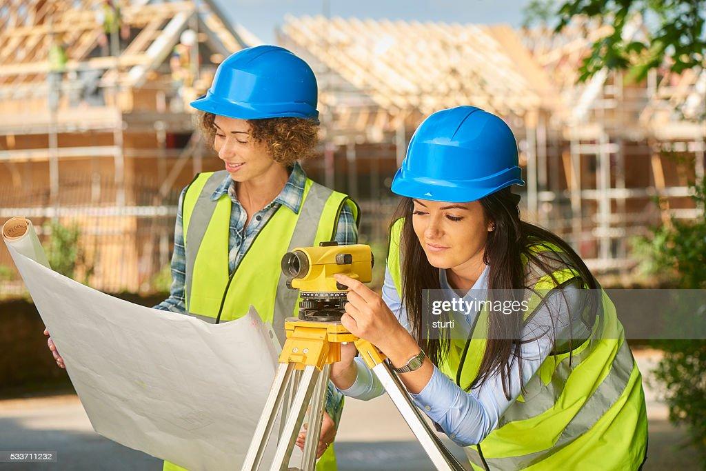 Ispettori di costruzione femminile : Foto stock