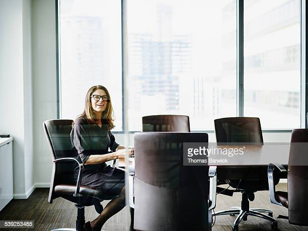 Female business executive in conference room