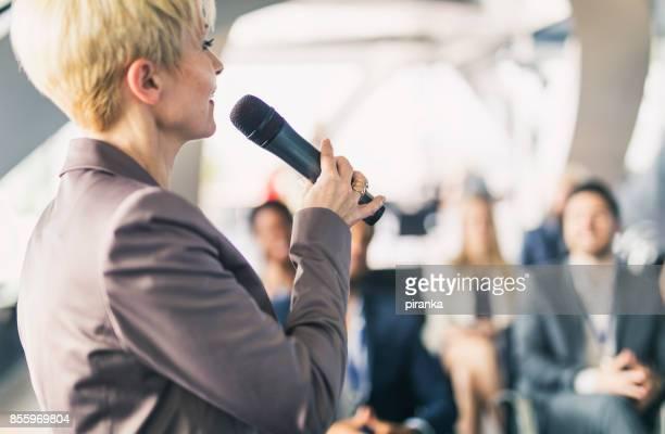 Female business presenter