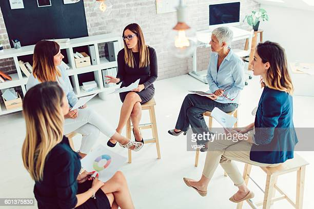 Female Business Team Meeting