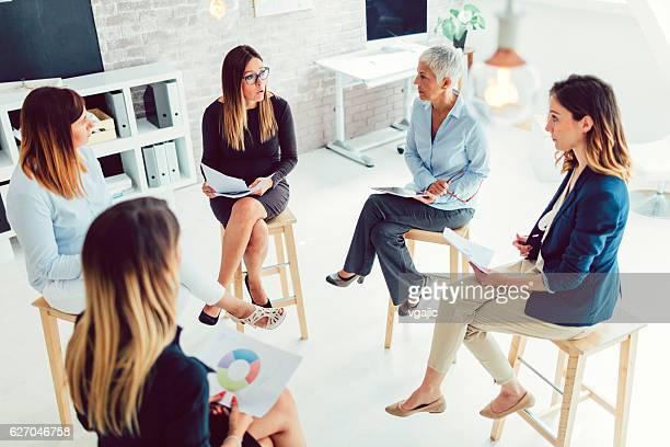 Female Business Team Meeting
